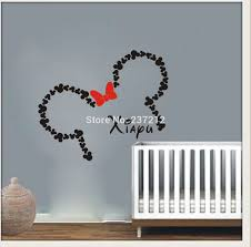 28 baby minnie mouse wall decals with bow personalized name