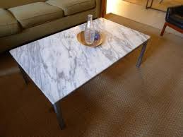 marble or granite coffee tables