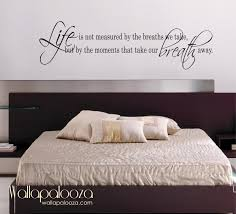 wall decals for bedroom quotes life is not measured wall decal
