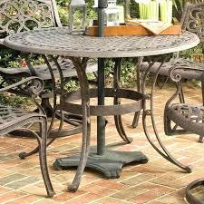 vintage metal patio tables round metal patio table inch round outdoor patio table in rust brown vintage metal patio tables