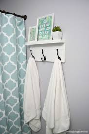 towel rack. Nice How To On A Simple But Cute Bathroom Hook Rack And Shelf At Dwelling In Happiness! This Cool Project Features Our Very Affordable Oil Rubbed Bronze Towel