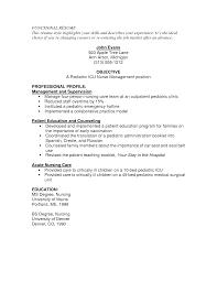 Sample Resume Of Nurse Proyectoportal Com