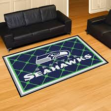 seattle seahawks area rug nylon 5 x 8