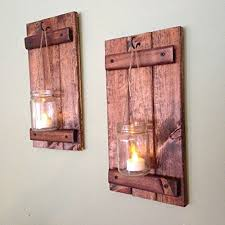 Wall Sconce, Rustic Wall Decor, Wood Wall Sconce, Rustic Wall Sconce, Candle