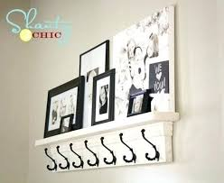 Wall Mounted Coat Rack With Hooks And Shelf Stunning Wall Coat Hooks With Shelf You Should Make This Coat Hook Shelf
