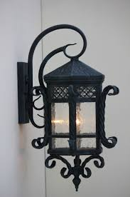 surging wrought iron outdoor lighting spanish hand forged dream