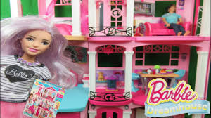 barbie dreamhouse tour 3 floors built up assembly dollhouse room by room with 70 accessory pieces