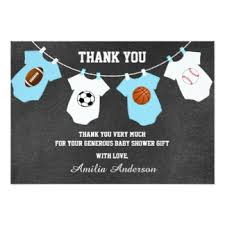 Sports Baby Caucasian Baby Shower Invitations  Candles And FavorsBaby Shower Invitations Sports Theme