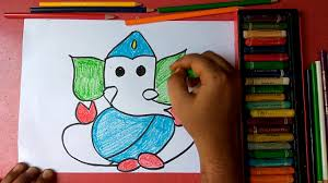how to draw lord ganesha step by step very easily for kids
