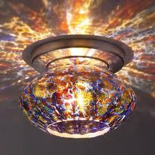 glass flush mount ceiling lighting