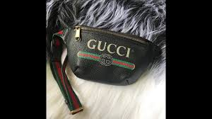first look for gucci print small belt bag from perfectkickc