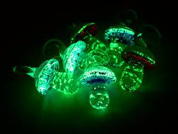 glow in the dark glass mushroom 8pcs p426