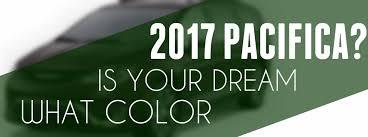 2017 Chrysler Pacifica Paint Color Options