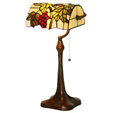 fumat tiffany style stained glass table lamp romantic g bank light design