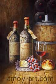 aa05hw001 27 heavy wine bottles china oil painting whole portrait oil paintings museum quality oil painting reions knife oil