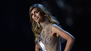 angela ponce of spain petes in the evening gown peion during the 2018 miss universe pageant