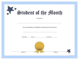 Free Employee Of The Month Certificate Template Awesome Free Printable Student Of The Month Certificate Teacher Stuff