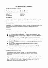 Housekeeping Resume Resume Format For Housekeeping Supervisor Awesome Resume For 56