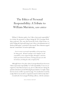 the ethics of personal responsibility a tribute to william  document is being loaded