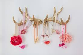 gold antlers for holding hair bows