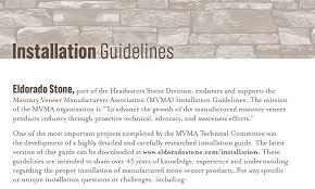 eldorado stone installation guidelines