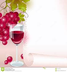Wine Border Template Red Grapes With Wine Menu Stock Vector Illustration Of Design