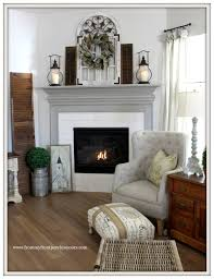 farmhouse fireplace painted fireplace mantel sherwin williams dorain gray from my front
