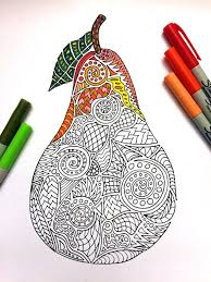 Small Picture 61 best fruits images on Pinterest Adult coloring Coloring