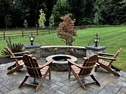 wonderful outdoor living space with patio sitting wall and fire pit cost to install paver patio i74