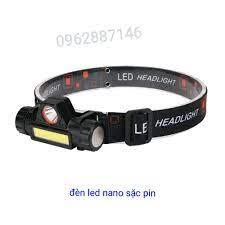 Đèn pin đội đầu siêu sáng đèn câu cá 2 bóng tốt giá rẻ