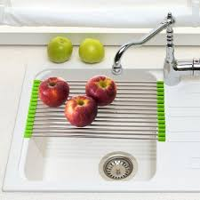 Kitchen Sink Drain Rack Chef Buddy 158 In Folding Sink Drying Rack In Stainless Steel 82