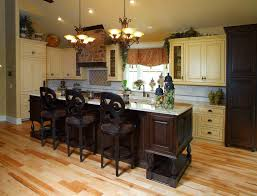 White Kitchen Cabinets Dark Floors Kitchens With Wood Floors Cream