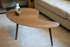 Tapered Coffee Table Legs Mid Century Modern Walnut Side Table Coffee Tables And Mid
