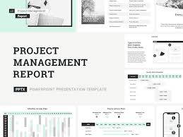 Project Management Report Templates Project Management Report Presentation Template By Jetz
