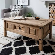 Mexican Pine Coffee Table Corona 1 Drawer Coffee Table Solid Mexican Pine Rustic Amazon