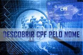 o descobrir cpf pelo nome