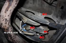 torsion key adjustment bolt. here you can see i have pb blasted the back end of torsion bar, this is not necessary unless are replacing them. key adjustment bolt l