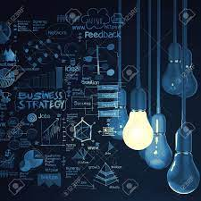 Light Bulb 3d On Business Strategy Background As Concept Stock Photo,  Picture And Royalty Free Image. Image 25265771.