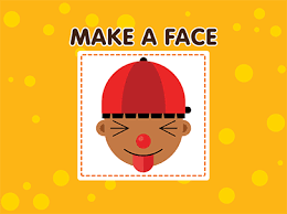 makea click and drag to make a face abcya
