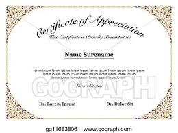 Certificate Of Appreciate Vector Clipart Gold Border Certificate Of Appreciation For