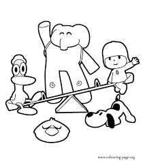 Pocoyo Coloring Coloring Pages Online Pocoyo And Friends Coloring