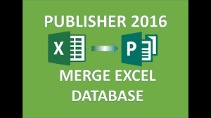 Publisher 2016 Merge A Publication With An Excel Database