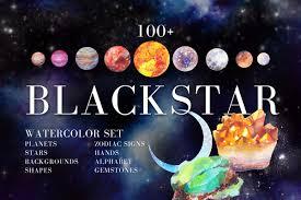 Watercolor Space Cosmos Graphic Set Graphic By Kaleriiatv Creative Fabrica