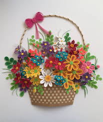 Paper Quilling Flower Baskets This Beautiful Qulling Flower Basket Something New Pinterest