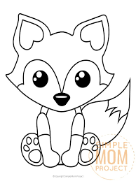 Browse free animal coloring pages & color the picture of your favorite animal. Free Printable Baby Fox Coloring Page Simple Mom Project