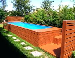 above ground swimming pool designs. Beautiful Backyard Above Ground Pool Ideas A Deck With Flowing Steps Design . Swimming Designs