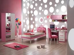 cool bedroom sets for teenage girls. Interior Decor Of Modern Teenage Girl Bedroom With Polka Dots Wall Cool Sets For Girls