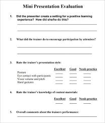 Presentation Feedback Form Template Sample Training Feedback Form Template Recent Representation 29 Of