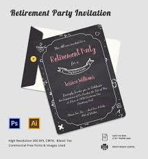 Retirement Celebration Invitation Template 29 Retirement Invitation Templates Psd Ai Word Free Premium