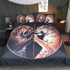 3d tiger bedding set king size modern black bedding sets double hotel bohemian bedding bed duvet